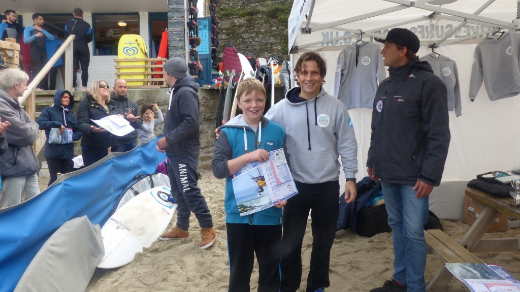 Charlie Smith collects his SurfingGB certificate