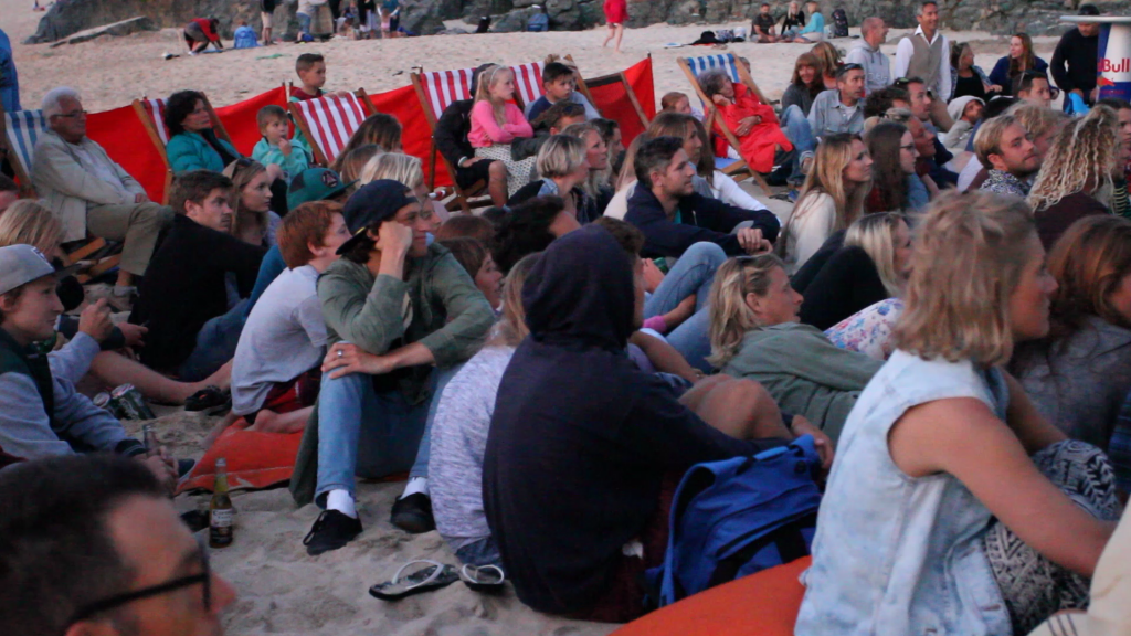 At the flicks - Porthmeor style!