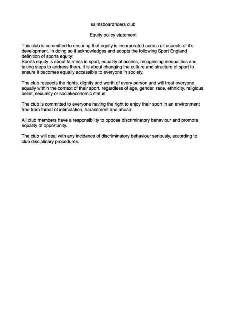 Equity policy statement